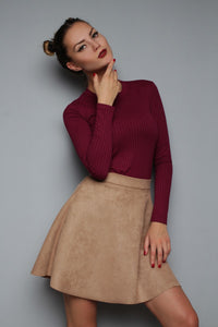 Skirt FH30312 eco suede color: beige