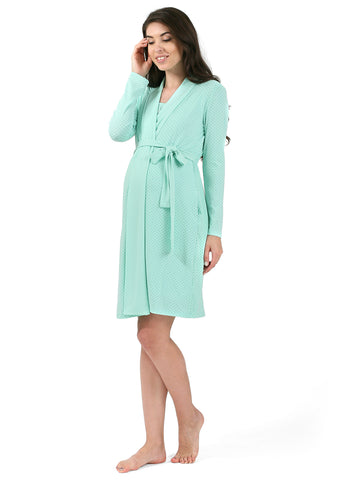 """Luciana"" Maternity and nursing set color: mint"