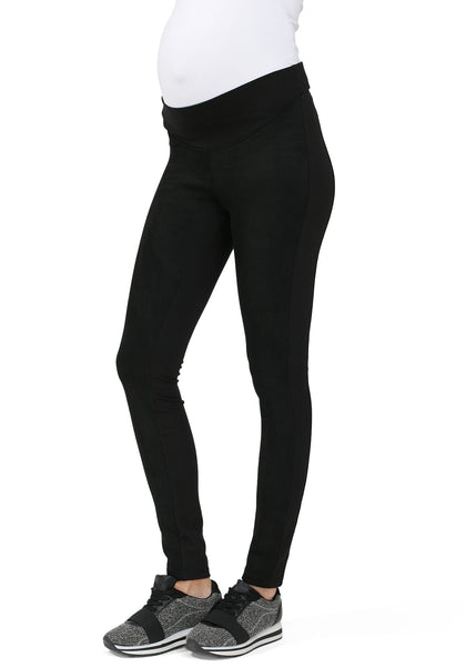 """Herman"" Maternity pants eco-suede and Jersey fabric color: black"