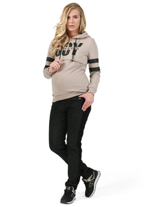 """Iberia"" Maternity membrane warm black pants"