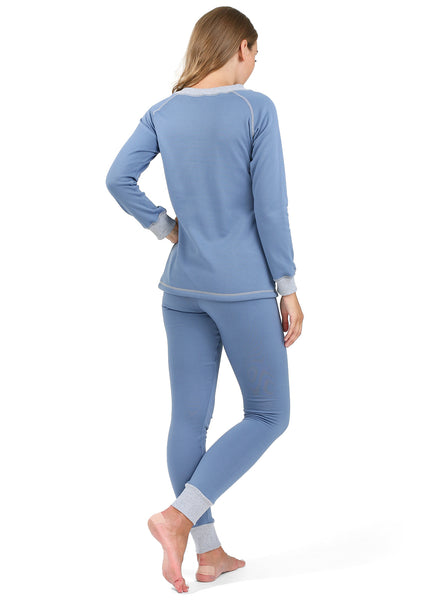 "Maternity and nursing Thermal underwear ""Slim"" color: denim"