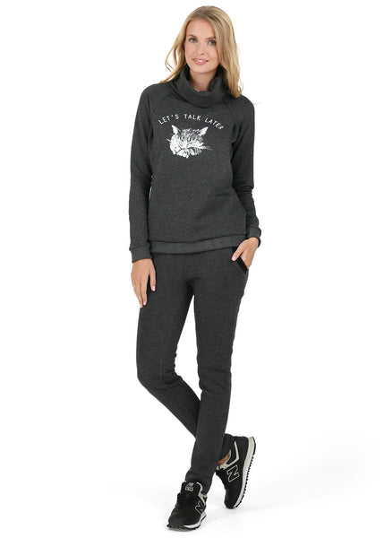 """John"" sweatshirt for nursing; color: anthracite"