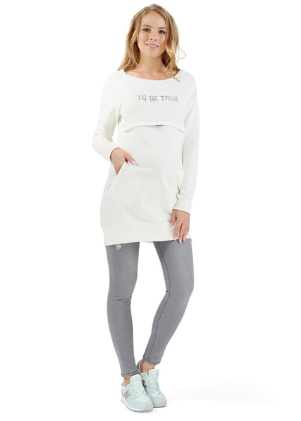 "Warm undergarment ""Alba"" for pregnant and lactating color: milk"