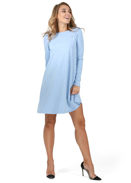 """Earlene"" Maternity dress; color: denim blend"