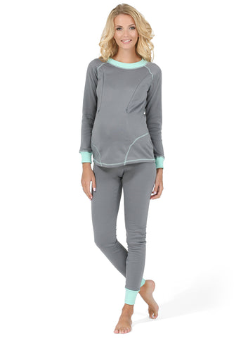 "Maternity and nursing Thermal underwear ""Slim"" color: gray"