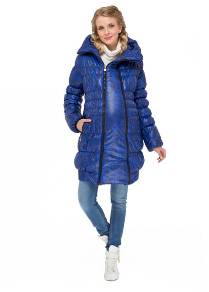 "Winter jacket 3in1 ""Iceland"" color: black-blue  for pregnant women, babywearing"