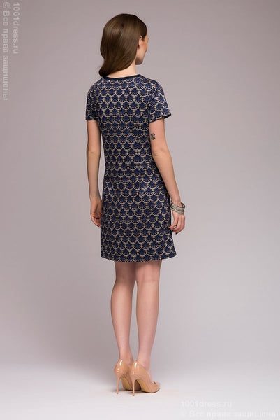 dress DM00778DB with pockets imitation; dark-blue Colour