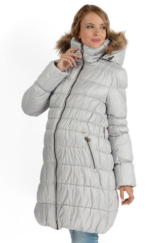 "Winter jacket for pregnant women 2in1 ""Sydney"" gray, ordinary"