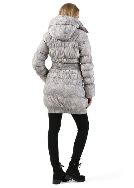 "Winter jacket 3in1 ""Iceland"" color: beige patterns for pregnant women, babywearing"