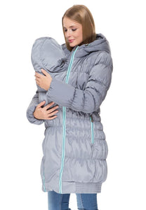 "Winter jacket 3in1 ""Hague"" color: gray for pregnant women, babywearing"
