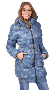 "Winter Jacket 2in1 ""Utah"" for pregnant women, normal; color: denim"