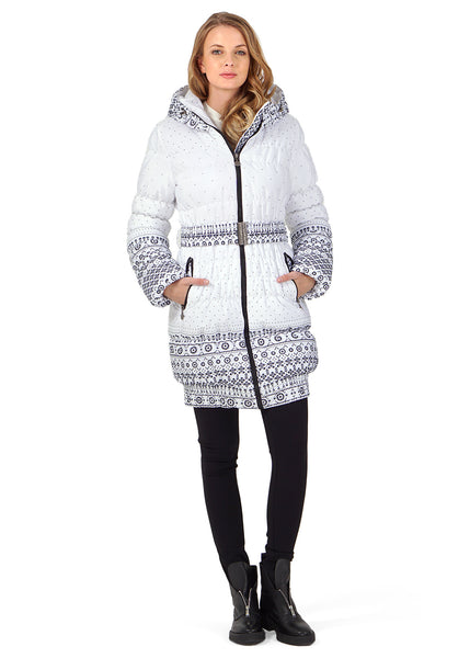 "Winter Jacket 2in1 ""Utah"" for pregnant women, normal; color: patterns on white"