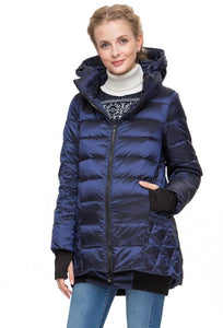 "Winter down jacket ""Tanzania"" for pregnant women, usual; color: blue"