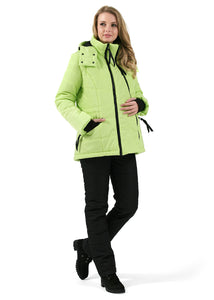"Winter set 2 in 1 ""Vancouver"" Lime for pregnant women, usual"