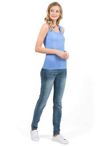 Nursing MX01 tank top; color: denim