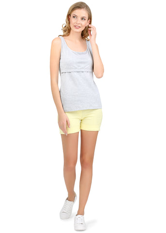 Alda Nursing Tank Top ; color: gray mélange