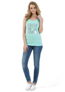 Nursing MX01 tank top; color: menthol / white