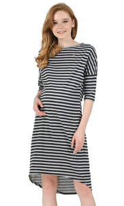 """Naples"" Maternity Tunic; color: gray melange / black"