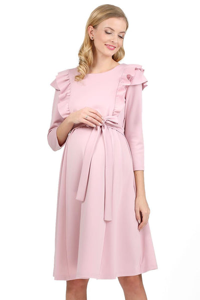 """Evelina"" Maternity and nursing dress; color: pink"