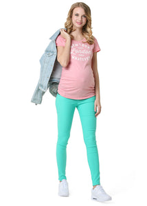 """Rakel"" Maternity mentol pants 2in1"