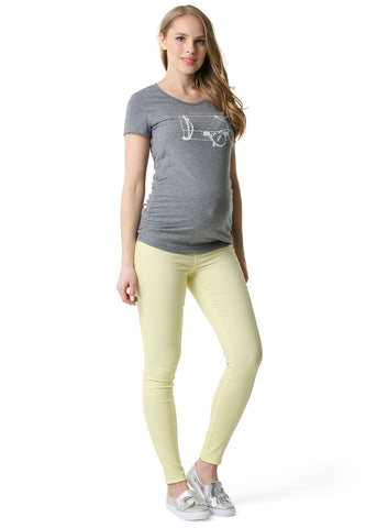 "Jeans ""Adner"" Maternity 2in1;  colour: pale yellow"