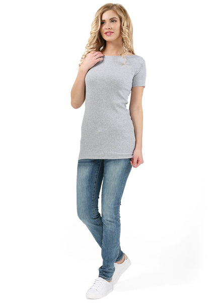 "T-shirt ""Diva"" for pregnant women; color: gray mélange"