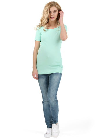 "T-shirt ""Diva"" for pregnant women; color: menthol"