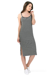 """Litera"" dress for nursing; color: gray melange / black"