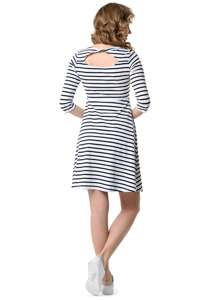 "Dress ""Philadelphia"" for pregnant and lactating white blue"
