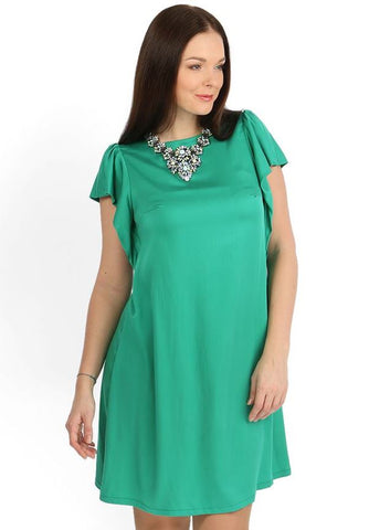 """Elsa"" Maternity green dress"