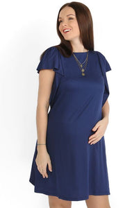 """Elsa"" Maternity blue dress"