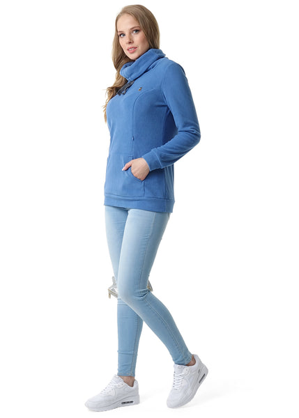 Riley Maternity And Nursing Sweatshirt color: denim