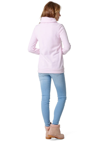 Riley Maternity And Nursing Sweatshirt color: light pink