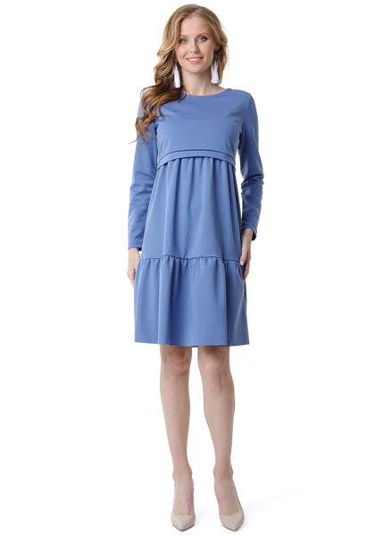"Dress ""Violet"" for pregnant and lactating; color: denim"