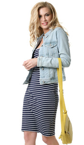 """Leila"" dressing for pregnant and lactating women; color: blue / white"