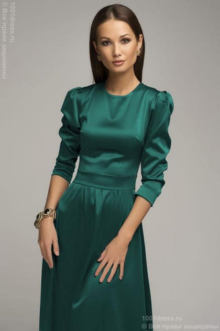 Emerald Maxime Dress DM01032EM with sleeves 3/4