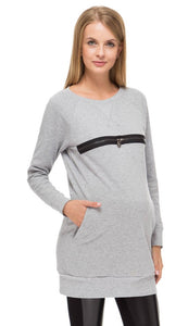 "Jumper ""Sport"" Heather grey maternity and nursing"