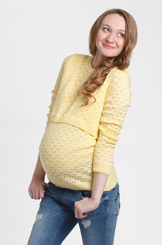 "Jumper ""Bergamo"" for maternity and nursing; color: pineapple"