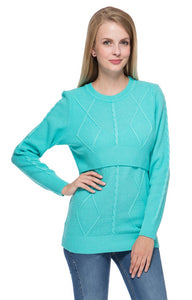 "Jumper ""Iren"" sky blue for maternity and nursing"