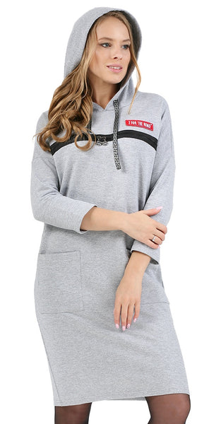 "Warm undergarment ""Hoodie"" for pregnant and lactating color: gray mélange"