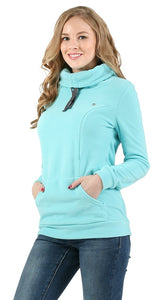 Riley Maternity And Nursing Sweatshirt color: menthol