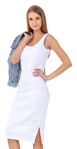 """Casarse"" Maternity and nursing dress; color: white"