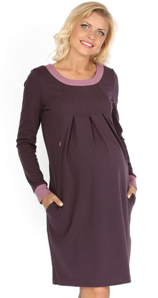 """Frank"" Maternity and nursing lilac dress"