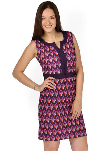 """Haizy"" Maternity and nursing purple dress in diamonds"