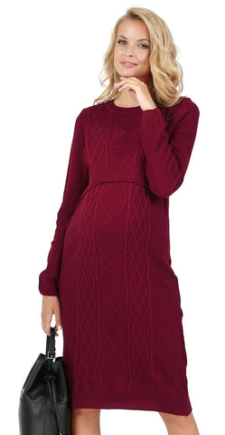 "Dress ""Charlize"" Maternity and lactating in Marsala"