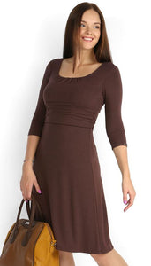 Maternity and nursing dress  PV11 brown dress