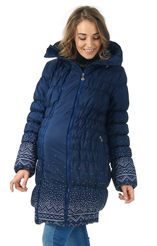 "Winter jacket 3in1 ""Iceland"" color: knitted patterns  for pregnant women, babywearing"