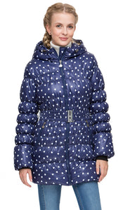 "Winter jacket 2in1 ""Malta"" for pregnant women, ordinary color: blue / hearts"
