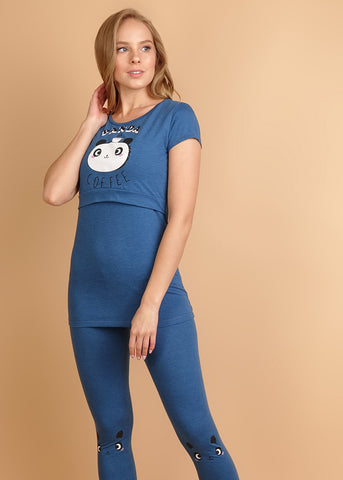 "Set ""Assel"" for nursing mothers; indigo"
