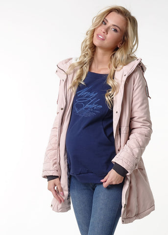 "Jacket demis. 2in1 ""Chicago"" powder color for pregnant women"